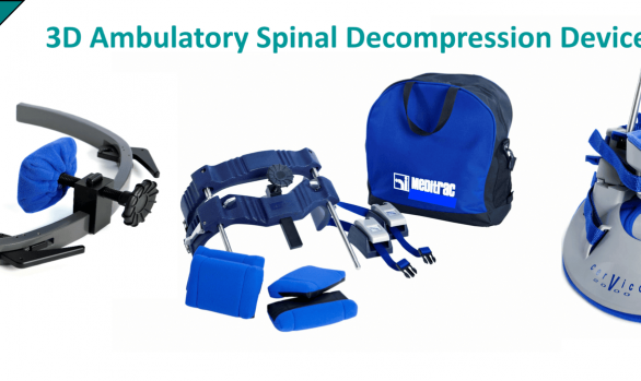 MediSpera Medical Equipment Supplier of Meditrac 3D Ambulatory Spinal Decompression Devices including the Vertetrac Cervico 2000 DBS Scoliosis Rail Attachment for neck & lower back pain relief devices, chiropractic equipment