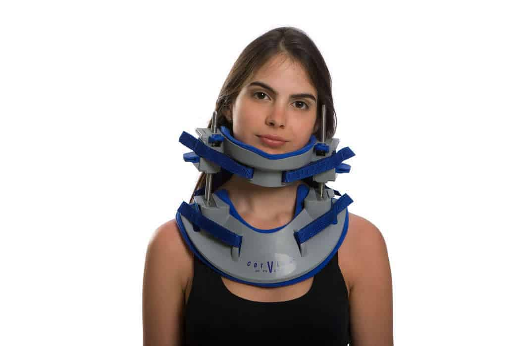 Cervico 2000 neck brace for ambulatory 3D Spinal Decompression for symmetric and asymmetric traction