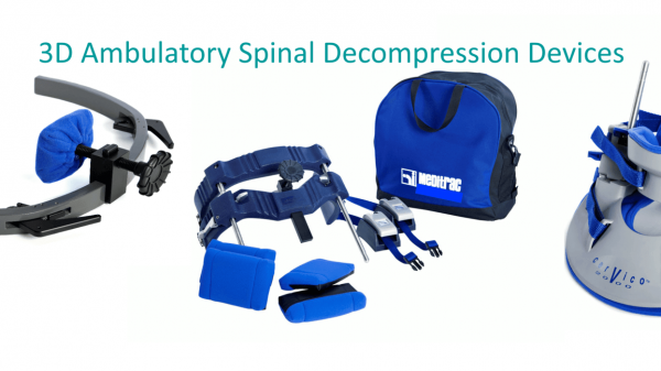 Meditrac 3D Ambulatory Spinal Decompression Devices, including the Vertetrac, Cervico 2000 & DBS Scoliosis Rail Attachment, for neck & lower back pain relief